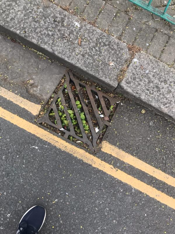 Blocked gully drain is located on Ravenor Park Road junction Oldfield Lane South ub6 -51a Oldfield Lane South, Greenford, UB6 9JZ