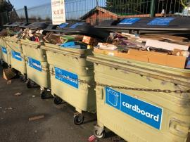 Full bins. Overflowing rubbish is blowing around-29 St. Clements Gardens, St. Clement, Jersey, JE2 6QJ