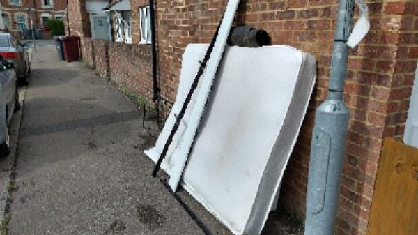 bed dumped at the end of freshwater Road near to Liverpool Road-61 Liverpool Road, Reading, RG1 3PN