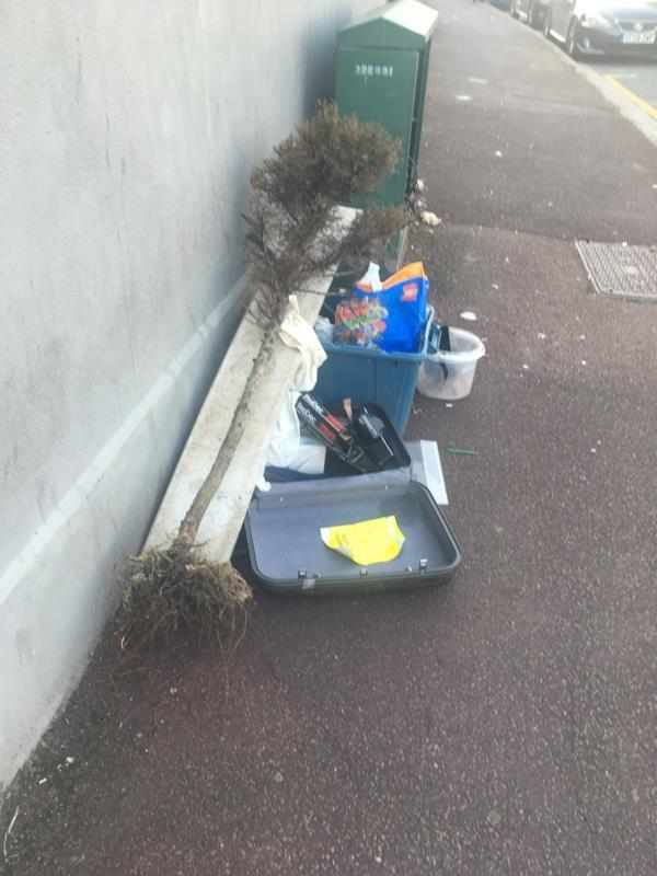 Flytipping reported as cleared - but evidently not-161 Ruskin Avenue, London, E12 6PS