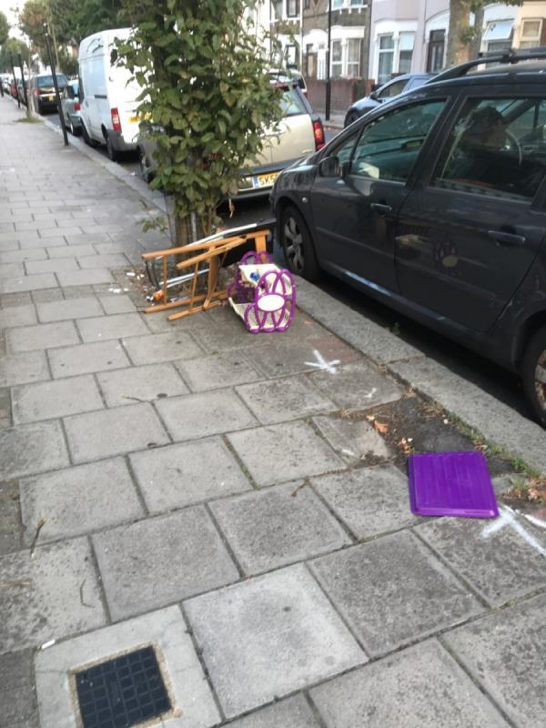 Rubbish outside our house.-51 Halley Road, Upton Park, E7 8DS