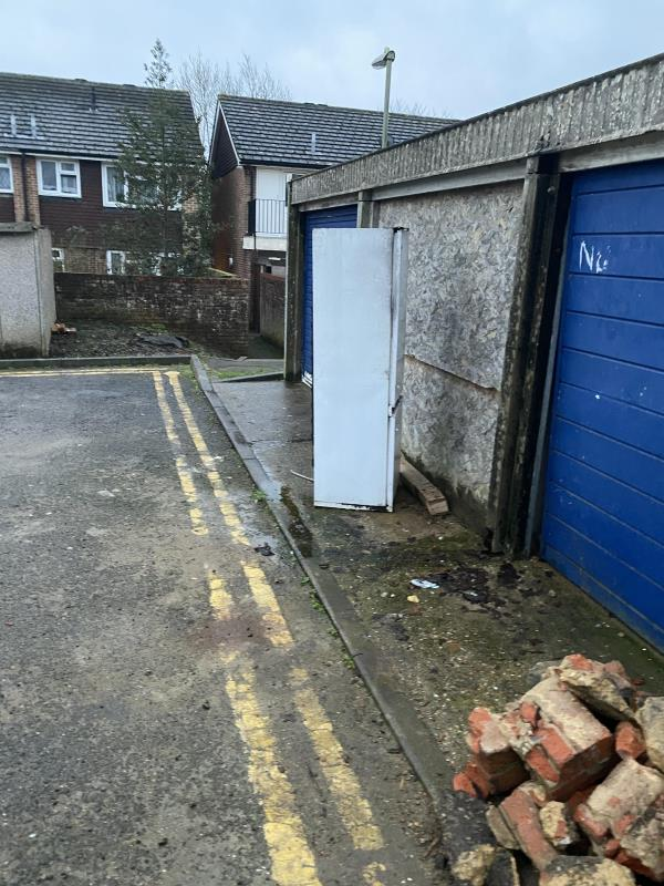 A fridge and a large microwave have been fly tipped at the end of Church Street infront of three garages.-71 Cambridge Road, Aldershot, GU11 3LD