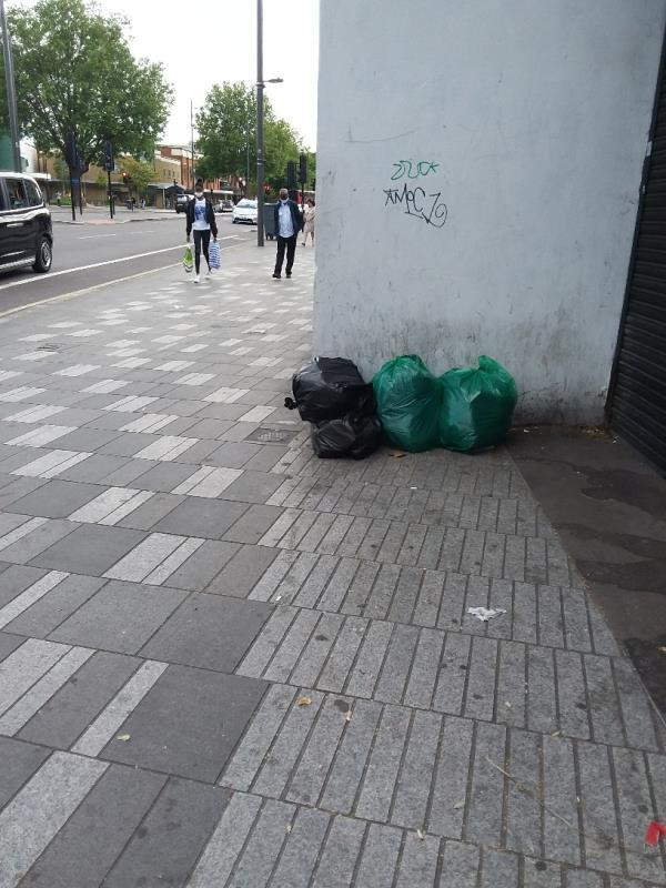 Bin Bags and Litter left at this location-158 The Grove, London, E15 1NS