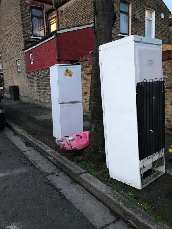 Two fridges and plastic pink car-3 Burford Road, London, E6 3NQ