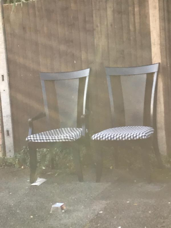 Mobile 10 job chairs next to no.43 Pattenden Road -3 Rathfern Road, London, SE6 4NJ