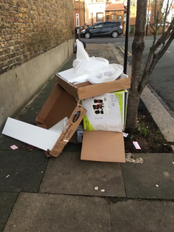 Fly tipping -2 Grosvenor Road, London, E6 1HE