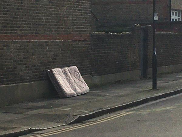 Dumped mattress on Sandford Road junction. -48 Pulleyns Avenue, East Ham, E6 3LZ