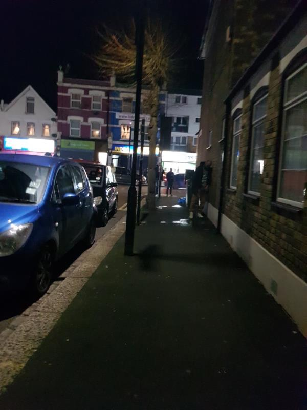 We have have passers by who are drunk that use the end of First Avenue corner as the urinal base. there is a green telecom box there, they urinate near there and litter alchohol cans behind there. can we jet wash the area.   Could it be possible to monitor with the cctv camera, that is on Romford Road and points to First Avenue corner.  really disgusting as pedestrian actually walk on the street to pass by that little area. see attached picture, person urinating, the person was too drunk.-688 Romford Road, London, E12 5AJ