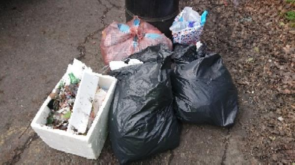 House old waste removed fly tipping on going at this site -Russell Building, Reading RG2, UK