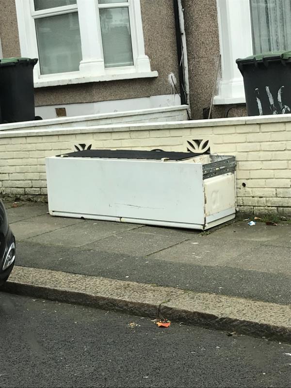 Fridge outside no.116 Glenfarg Road -105 Glenfarg Road, London, SE6 1XW