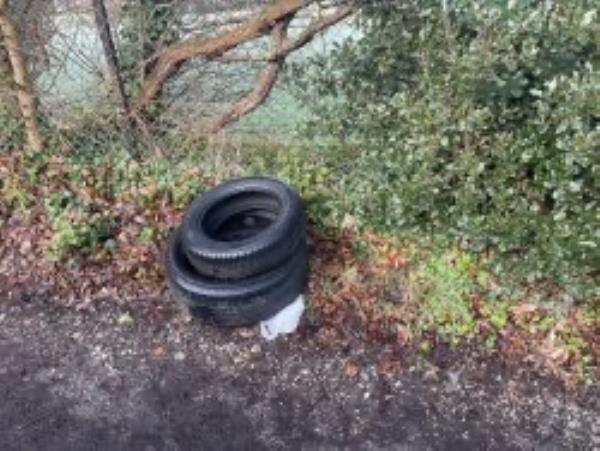 Please clear flytip of tyres-41 Sydenham Rise, London, SE23 3XL