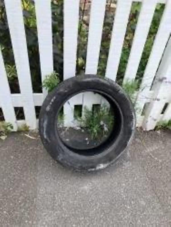 Opp Church. Please clear a tyre-20 Champion Crescent, London, SE26 4HH
