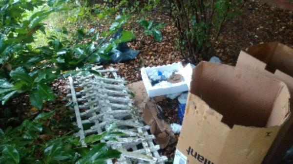 Flytipped boxes and fencing items no evidence taken -2 Monksbarn, Reading, RG2 7RP