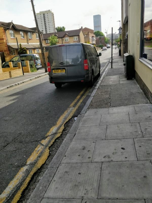 Cat parked on double yellow lines beside 150 Maryland Street E15-139 Maryland Street, London, E15 1JD
