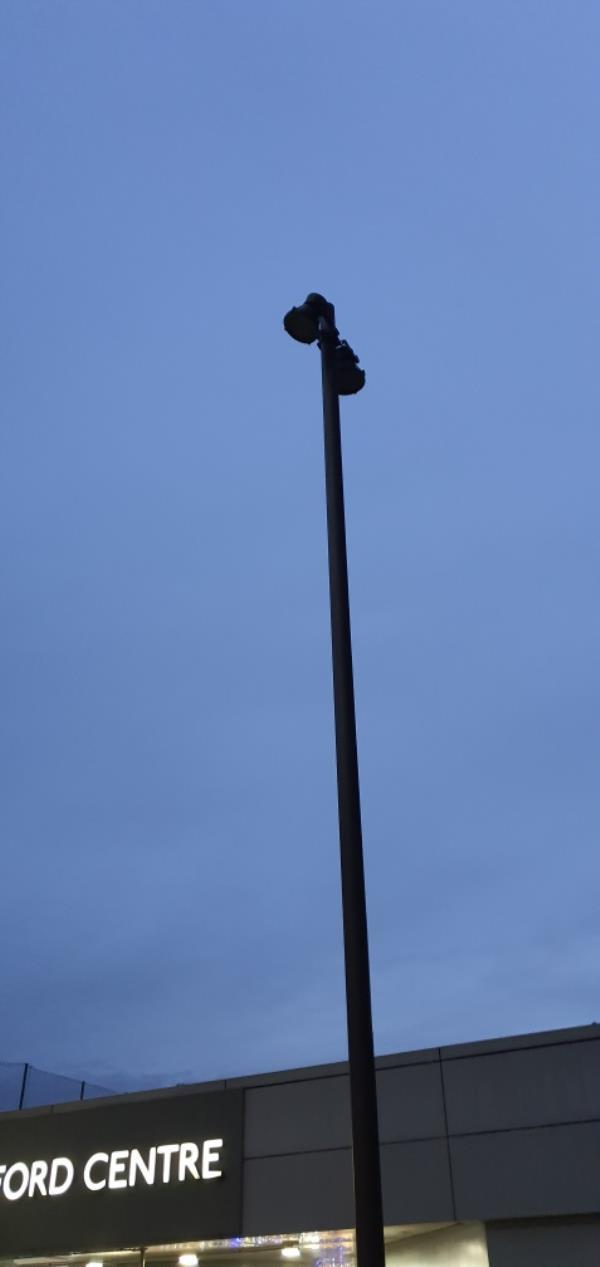 the high level lights are not working x 3 this also includes the new floor lights running along unit 2 Gerry Raffles Sq-141 Gerry Raffles Square, London, E15 1XF