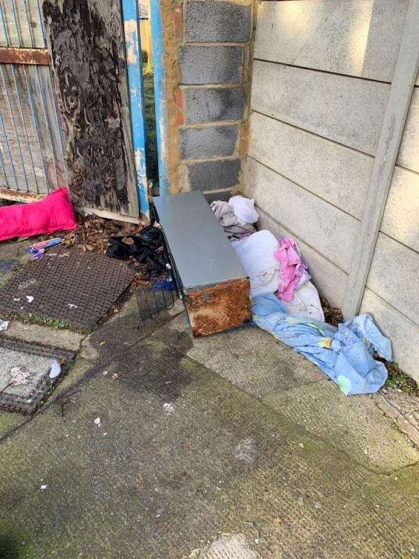 Fly tipping on Benson Ave -1 Benson Avenue, London, E6 3EE