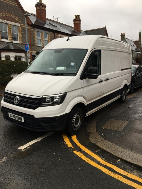 Illegal parking preventing people from using drop down kerb-9 Manchester Road, Reading, RG1 3QD