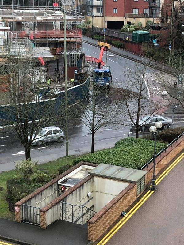 Flood on roundabout that Hampshire county council can't find-18 Union Street, Farnborough, GU14 7QB