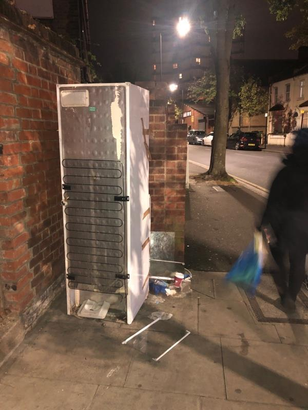 Fridge, corner of Boundary and Barking road. Opposite the corner shop. -1a Boundary Road, London, E13 9PS