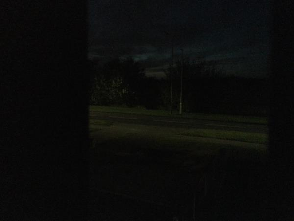 Street light out very dark and dangerous -241 Linthouse Lane, Wolverhampton, WV11 3TR
