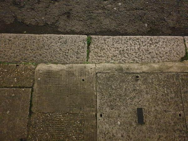 footpath uneven, fall hazard-55 Whyteville Road, London, E7 9LS