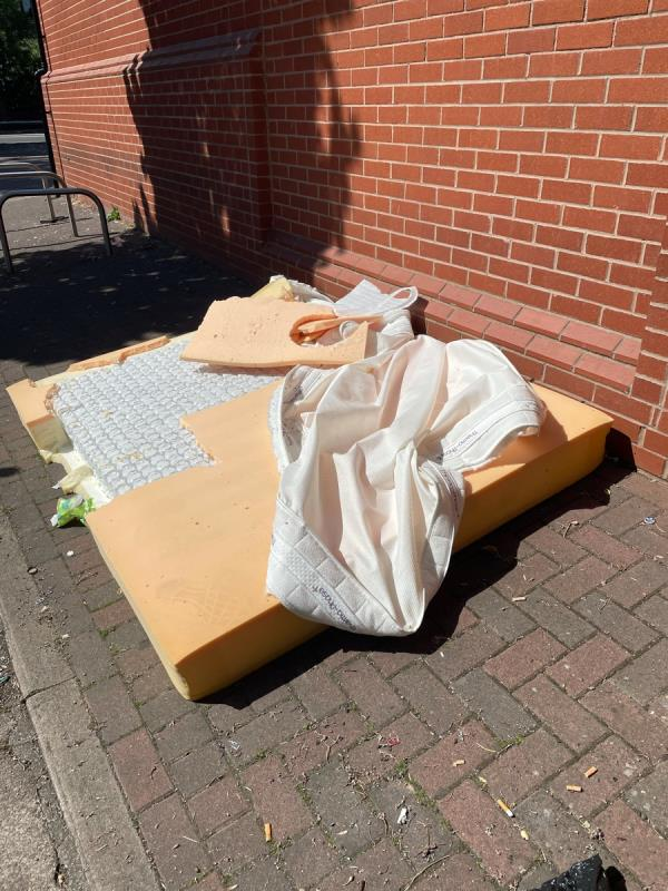 Dumped mattress along side Salvation Army on Walton street… it's been there for at least a week!!-174 Narborough Road, Leicester, LE3 0BU