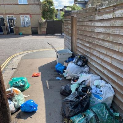 Fly tipping. Can something be done about this as it is constant?-101 Oriel Road, London, E9 5SG