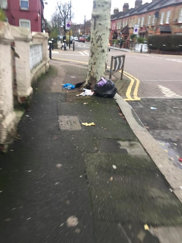 Fly tipping -2 Vincent Road, London, N22 6