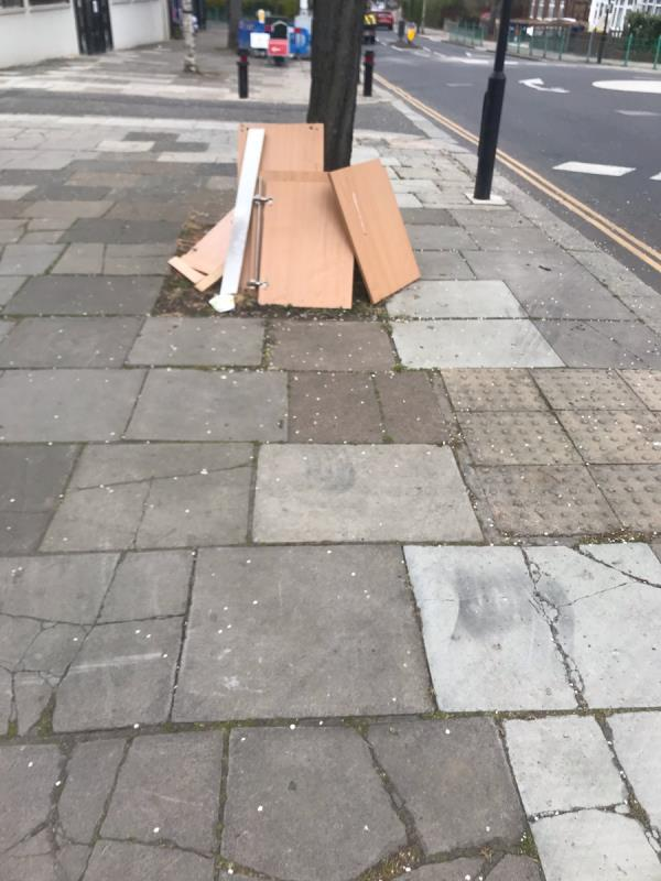 Fly tipped furniture is located outside 35 Oldfield Lane South ub6 -33b Oldfield Lane South, Greenford, UB6 9LB