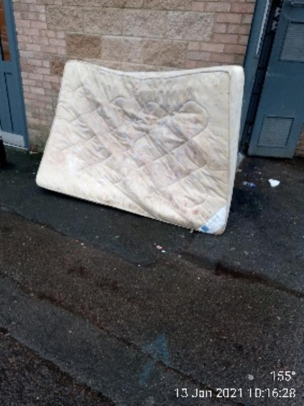 Please collect mattress by bin store for kielder Court -84 Kielder Court Hexham Road, Reading, RG2 7UG