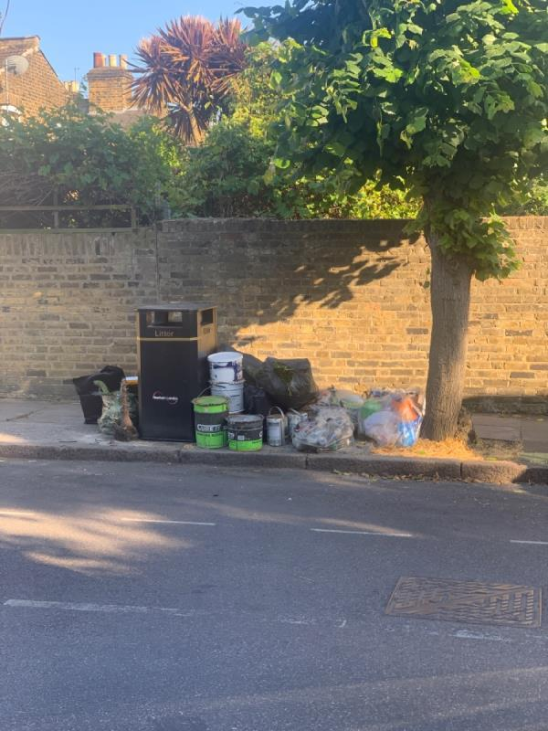 Fly tipping -5a Vaughan Road, London, E15 4AA