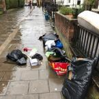 Piles or rubbish outside no. 10-6 Clapton Passage, London, E5 8HS