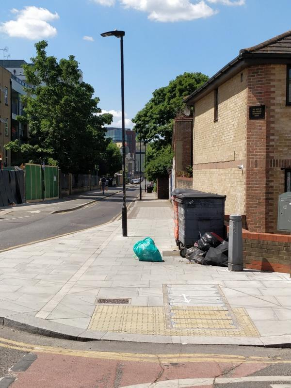 Flytipping on the pavement beside 1 Leytonstone Road E15-1 Leytonstone Rd, London E15 1JA, UK