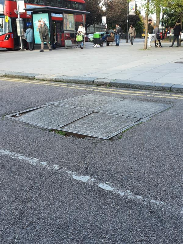 Its a matter of time somebody to brake a leg or a car damage its suspension....-Scotland Green (Stop B), London N17 9TS, UK