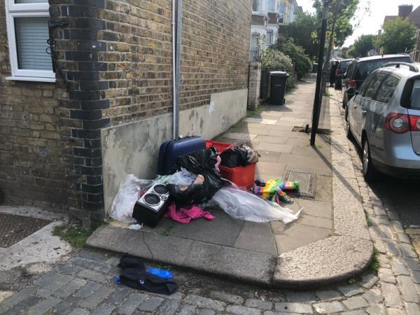 More fly tipping here, probably because of permanent bins placed.  image 1-114 Mattison Rd, Harringay, London N4 1BE, UK
