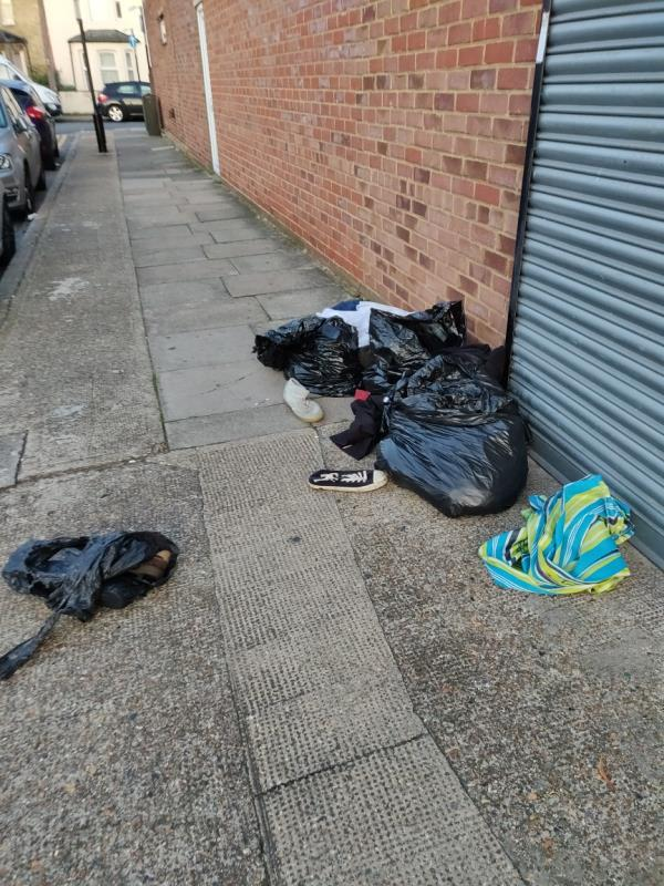 Someone has fly tipped some bags of rubbish-1 St Johns Terrace, London, E7 8BX