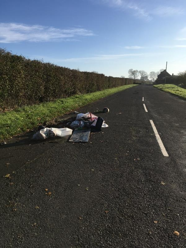 An amount of fly-tipped waste-Meadow Farm Newells Lane, Chichester, PO18 8PH