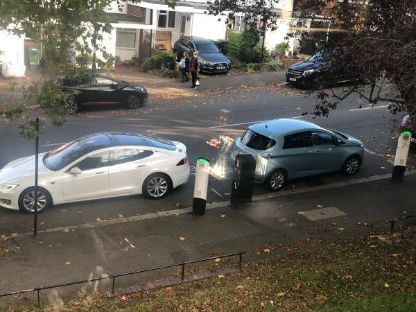 Once again mostly the same offenders just taking in the charging bays on the school run mirin afternoon -97 Longton Grove, London, SE26 6QQ
