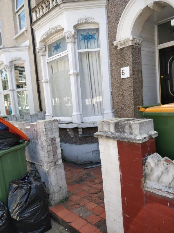 Flytipping on the pavement beside 63 Leytonstone Road E15-63 Maryland Square, London, E15 1HF