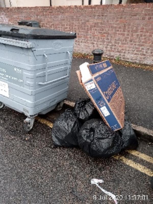Amity Road bins. Evidence found. Please clear. -2b Amity Road, Reading, RG1 3NY