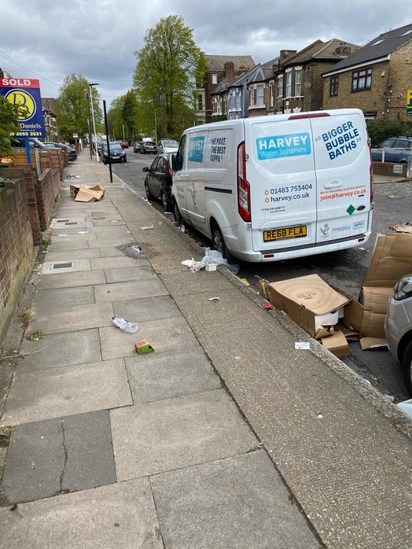 Entire road is full of littler -27a Carnarvon Road, London, E15 4JW