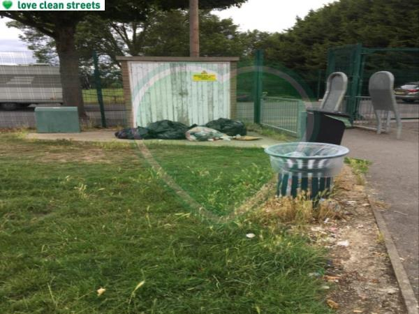 Another example in an adjacent park. Wind blown rubbish all over-47 Glenbow Road, London, BR1 4RL