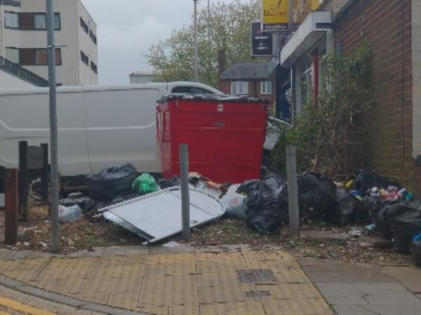 dumped rubnish-54 Maltings Pl, Reading RG1 6QG, UK