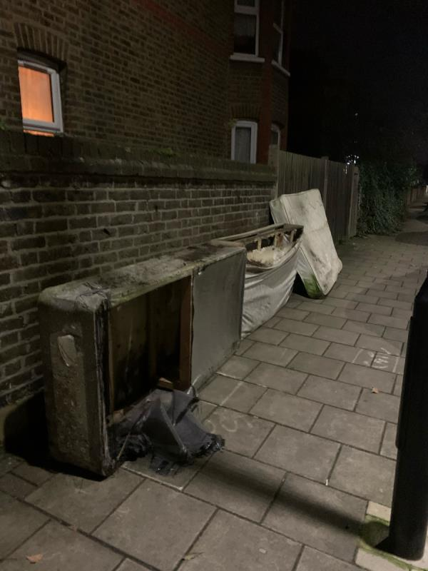 Fly tipping. Again. -108 Harold Road, London, E13 0SF