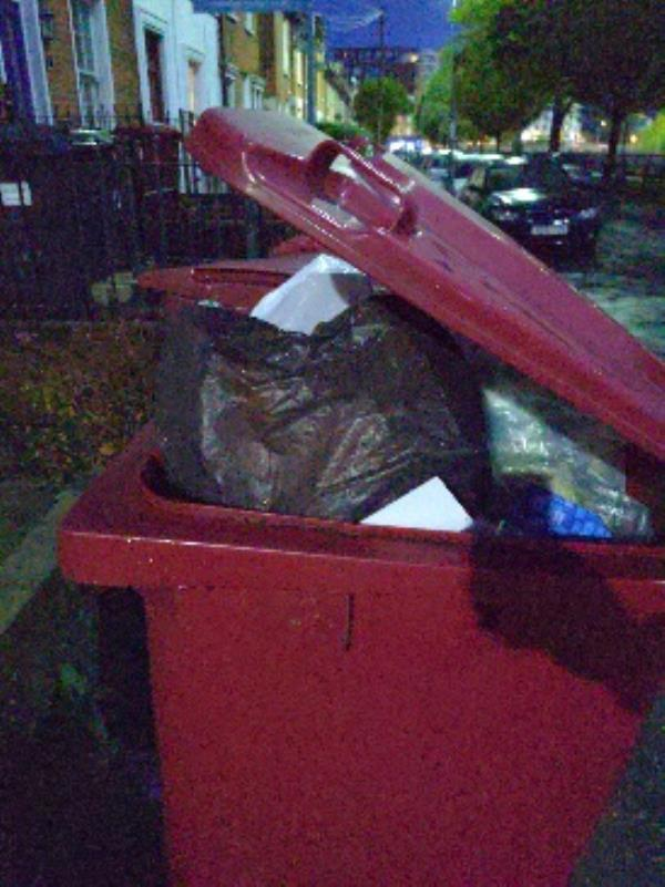 people putting things in our bin....-40 Howard Street, Reading, RG1 7LJ