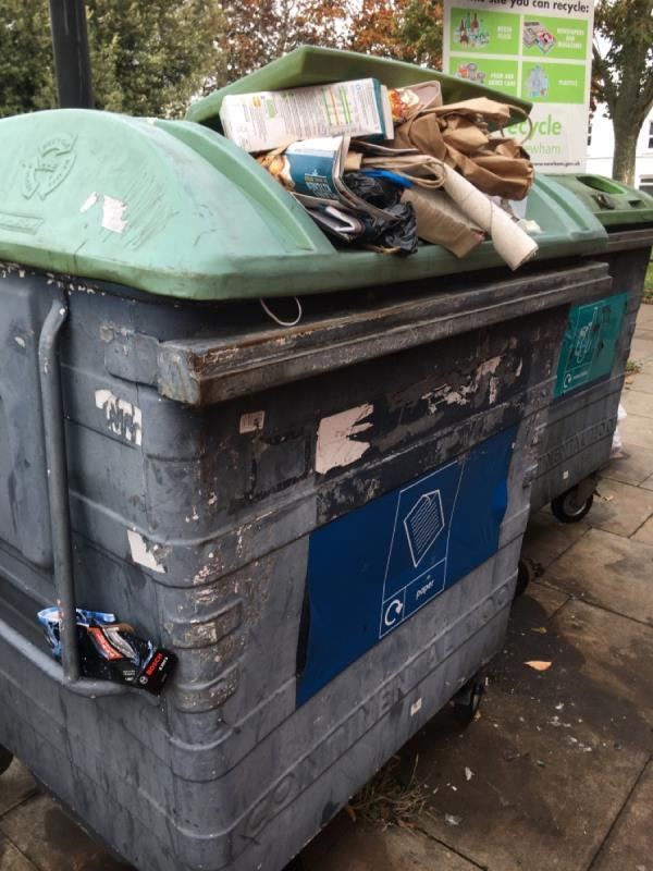 Bins over flowing -52 Portway, London, E15 4AN
