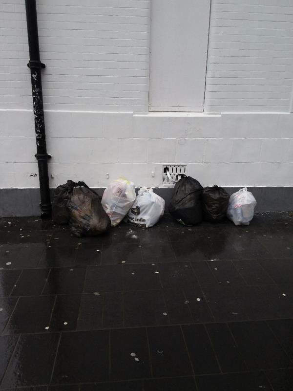Litter and Bin Bags left at this location-29a Broadway, London, E15 1NG