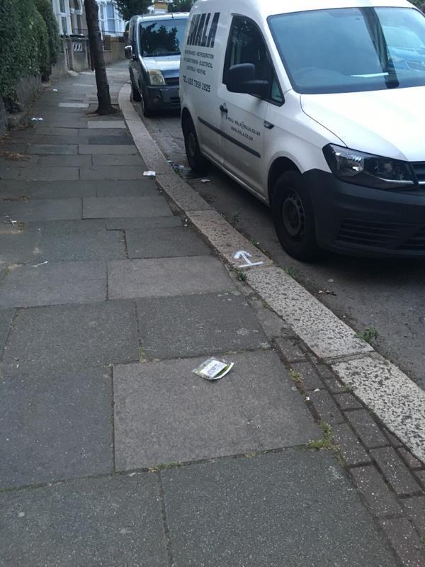 Fairbourne Road needs street sweep-65 Mount Pleasant Road, London, N17 6TR