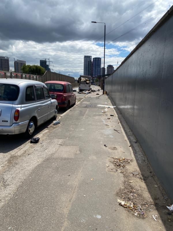 This entire area is like the third world. Litter everywhere, abandoned cars that have been set on fire etc!  It needs some serious attention from the council-Gillian House Stephenson Street, Canning Town, E16 4SA