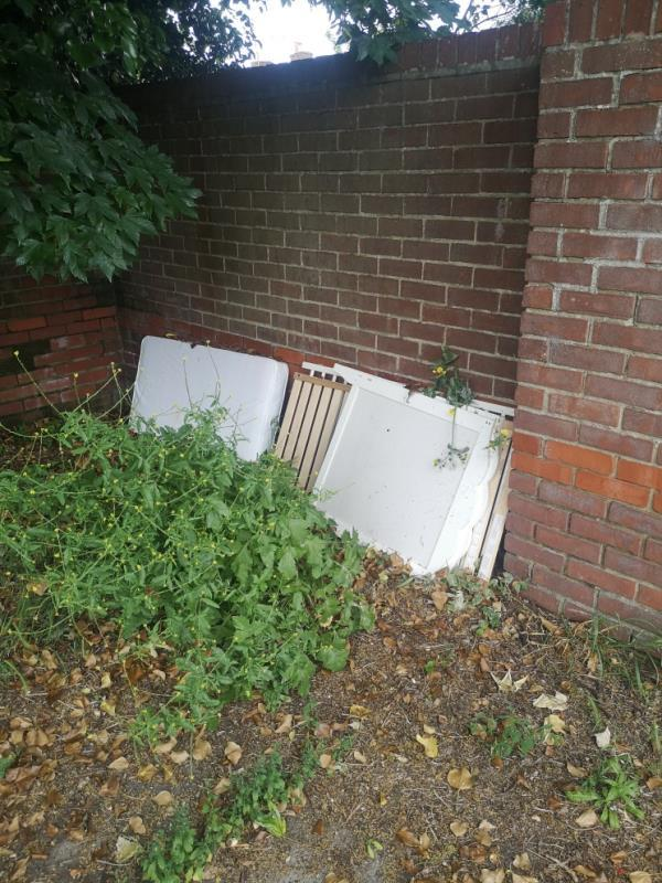 Cot dumped at Newtown community garden-106 Cumberland Road, Reading, RG1 3JT